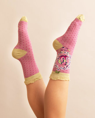 A-Z Ankle Socks - D
