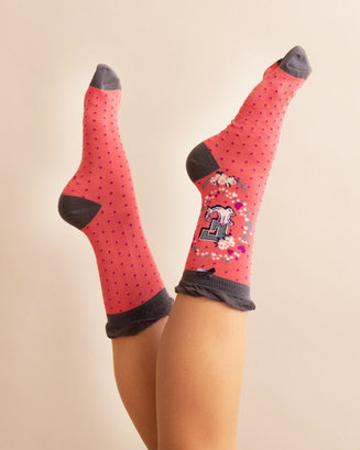 A-Z Ankle Socks - E