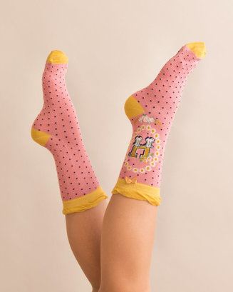 A-Z Ankle Socks - H