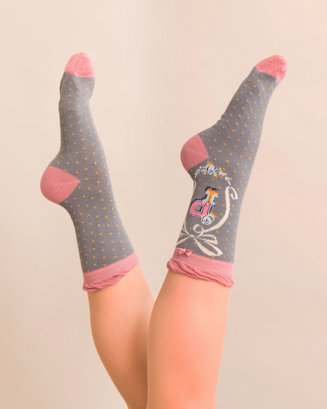 A-Z Ankle Socks - P