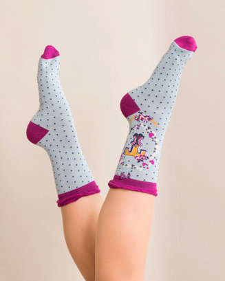 A-Z Ankle Socks - T