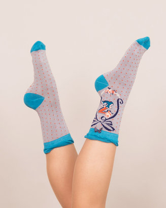 A-Z Ankle Socks - Z