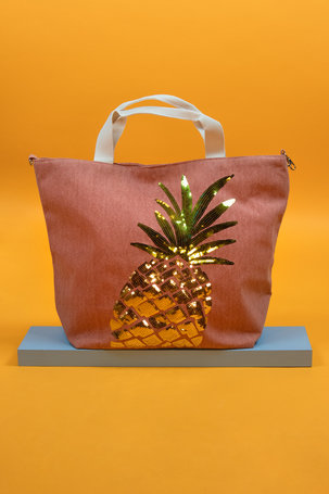 Boho Pineapple Bag - Coral