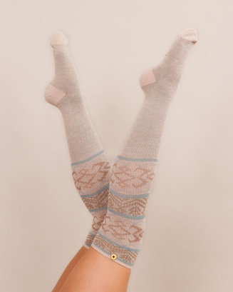 Fair Isle Long Socks