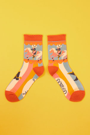 Ladies Ankle Socks Cowgirl - Ice