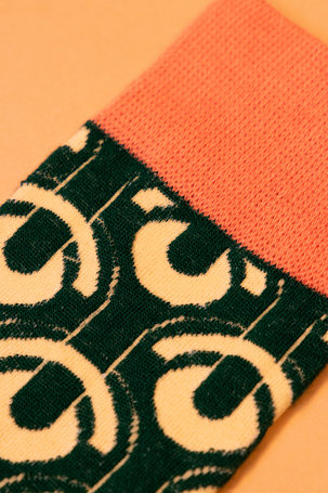 Men's Socks Art Deco Scallops - Racing Green
