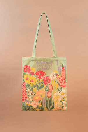 Tote Bag Country Garden - Mint